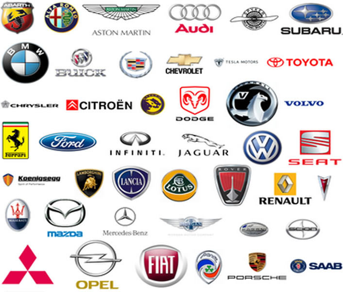 automobile and car emblem logos in EPS Vector image format